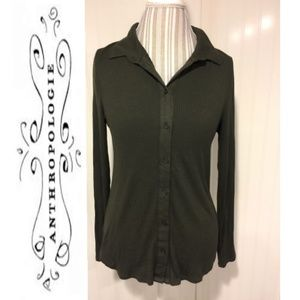 Antheo Postmark dark green button down long sleeve